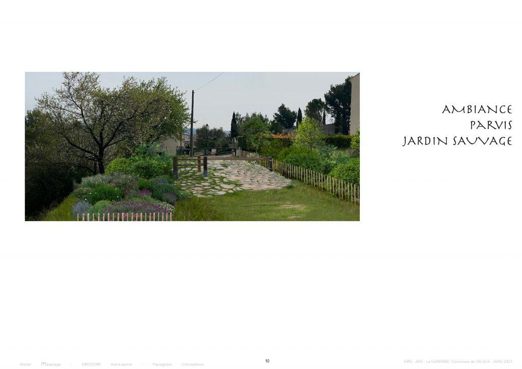 Garenne - ambiance parvis jardin sauvage